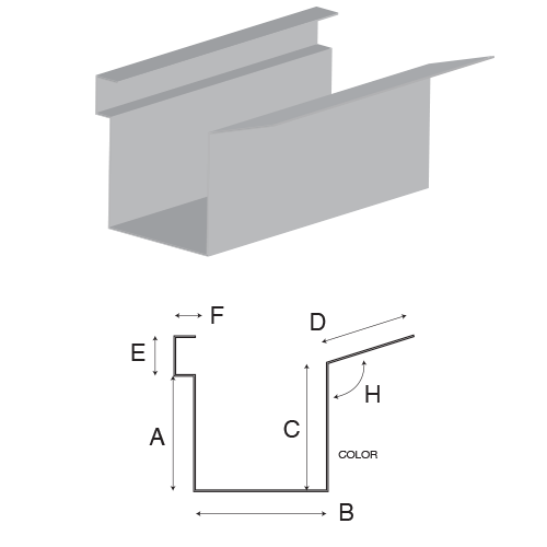 Box Eave Flange Gutter Custom Advantage Sheet Metal In Oklahoma City
