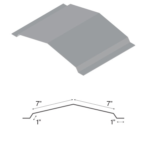 Flat Ridge Cap Advantage Sheet Metal In Oklahoma City